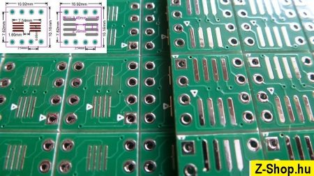 SOP8 - SO8 - SOIC8 - TSSOP8 - DIP8 adapter kétoldalas furatgalvanizált nyák