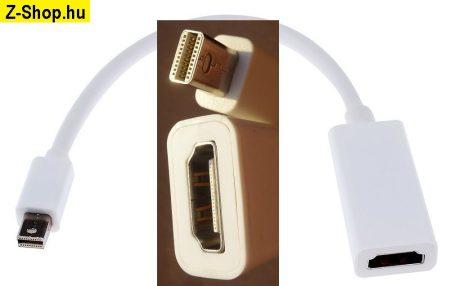 Mini Display Port DP - HDMI átalakító adapter kábel 23 cm fehér