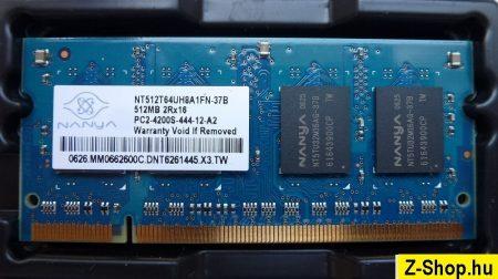 nanya 512MB DDR2 sodimm notebook RAM modul NT512T64UH8A1FN-37B 512MB 2Rx16 PC2-4200S-444-12-A2
