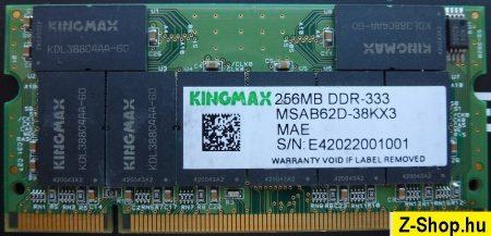 Kingmax 256MB DDR 333MHz sodimm PC2700 RAM modul MSAB62D-38KX3