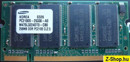 Samsung 256MB DDR 266MHz sodimm RAM modul PC2100 CL2.5 M470L3224DT0-CB0