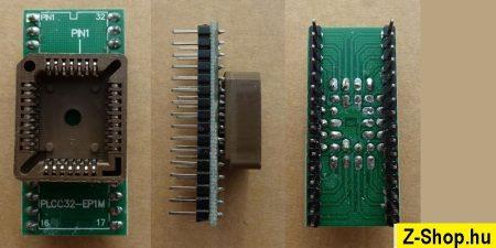 PLCC32 - DIP32 adapter átalakító foglalat