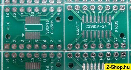 SSOP16 - SOP16 - DIP16 adapter kétoldalas furatgalvanizált nyák