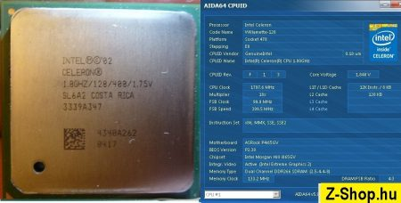Intel Celeron 1800 1.80GHz/128/400 processor SL6A2 s478 cpu