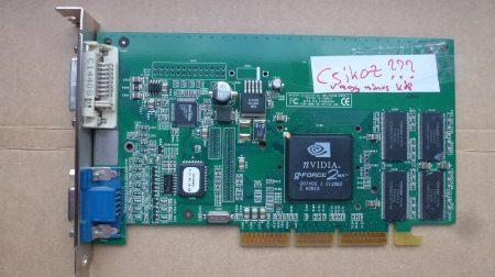 NVIDIA GeForce2 MX 32MB AGP 4x VGA kártya - hibás - csíkoz vagy nincs kép
