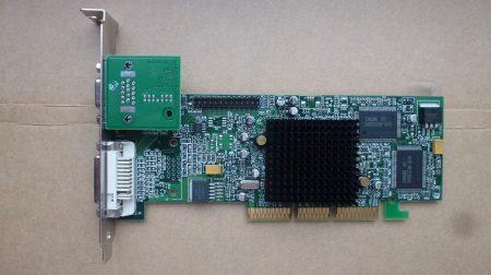 Matrox Millenium G550 G55+MDHA32DB 32MB AGP 4X 64-bit VGA kártya passzív hűtés