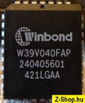 Winbond W39V040FAP 512kx8 CMOS FLASH memory PLCC32 from Abit IS-10 motherboard