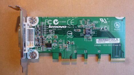 Lenovo DVI-D PCI-e Video Card - Video kártya SDVO - egyedül nem működik! 43C0258 alacsony - low profile