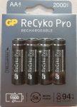 GP ReCyko Pro 2000 mAh NiMH Akkumulátor AA 4db/cs 1500-szor újratölthető