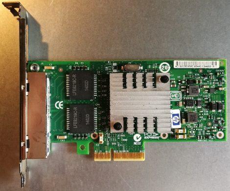 HP 593743-001 4x1Gbit PCI-e ethernet kártya szerverbe NC365T HSTNS-BN58
