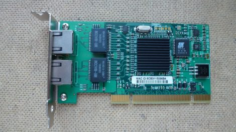PCI 1G Dual-Port Desktop Ethernet Adapter alacsony 72T2004 82546-2RJ45 Intel PRO/1000 MT Low Profile