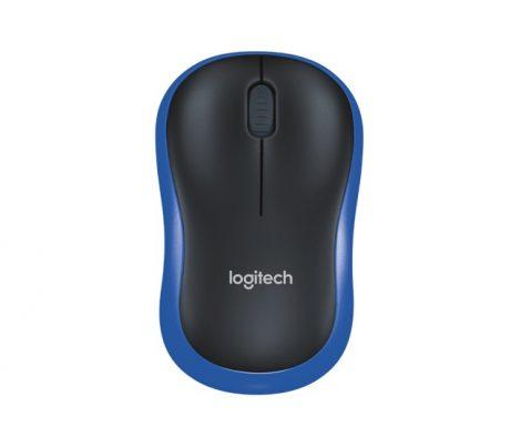 Logitech wireless egér M185 kék-fekete (910-002236) - vezeték nélküli egér