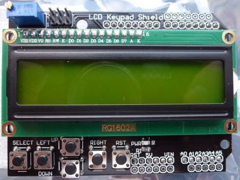 Arduino LCD keypad shield RG1602A