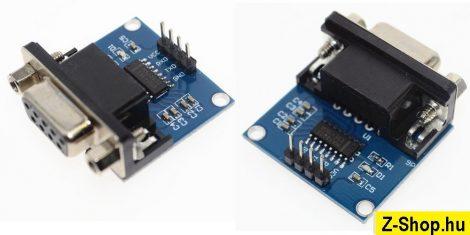 MAX3232 RS232 - TTL Serial Port konverter modul DB9 csatlakozóval