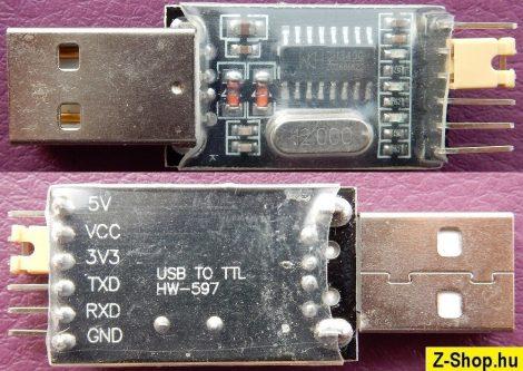 USB - RS232 TTL konverter modul - CH340G chip HW-597
