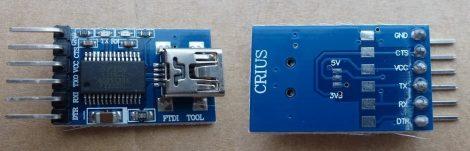 USB mini - RS232 TTL konverter modul - FTDI FT232RL chip