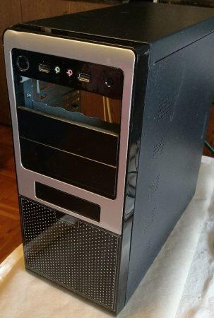 ATX PC ház fekete 18,2x42x43,5 cm