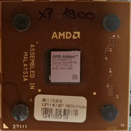 AMD Athlon XP 1900+ Palomino Socket A processzor cpu s462 AX1900DMT3C