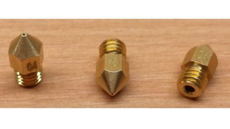 Anet A8 1,75mm x 1,00mm sárgaréz fúvóka - 1.75mm x 1.00mm copper nozzle