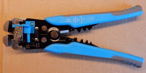Automata blankoló és krimpelő fogó 205mm - automata csupaszoló fogó narancssárga, kék