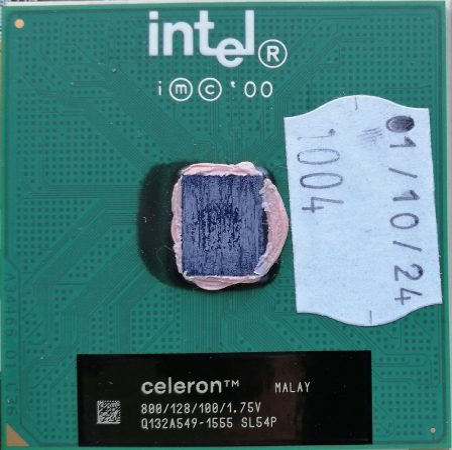 Intel® Celeron® Processor 800 MHz, 128K Cache, 100 MHz FSB s370 PPGA370 SL54P