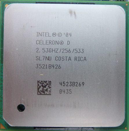 Intel Celeron D 325 2.53GHz/256/533 processzor SL7NU s478 cpu