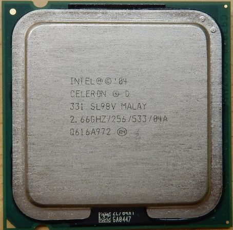 Intel Celeron D 331 2.66GHz/256/533 processzor SL98V s775 cpu