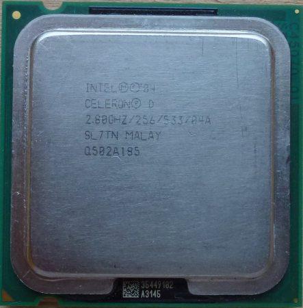 Intel Celeron D 335J 2.80/256/533 processzor SL7TN s775 cpu