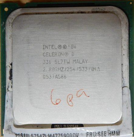 Intel Celeron D 336 2.80/256/533 processzor SL7TW s775 cpu