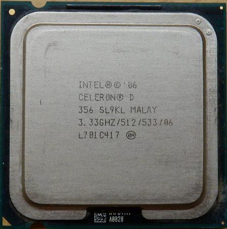 Intel Celeron D 356 3.33GHz/512/533 processzor SL9KL s775 cpu