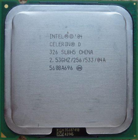 Intel Celeron D 326 2.53GHz/256/533 processzor SL8H5 s775 cpu