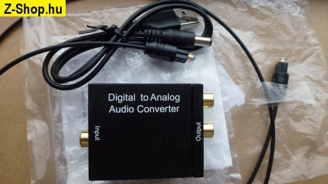 DAC - Digitális -> analóg hang átalakító Toslink -> RCA - Digital to Analog audio converter - TosLink or Coax to RCA stereo