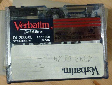 Verbatim DataLife DL2000XL data tape - streamer kazetta #87828 (93.7m) - használt