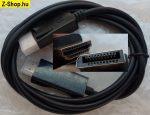DisplayPort - HDMI kábel 1,8m fekete - aranyozott