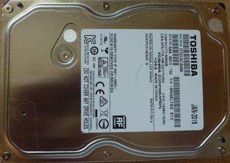 TOSHIBA DT01ACA050 500GB Sata HDD merevlemez 100%/100% DT01ACA
