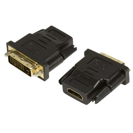 DVI papa - HDMI 1.4 mama átalakító adapter 4 cm LogiLink AH0001