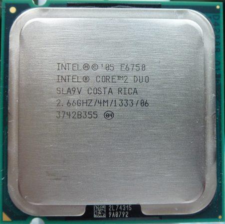 Intel Core 2 Duo E6750 2.66GHz/4M/1333/06 processzor SLA9V s775 cpu