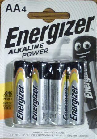 Energizer Alkaline Power alkáli ceruza elem 1,5V AA 4 db LR6