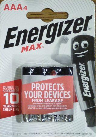 Energizer Max alkáli vékony ceruza elem 1,5V AAA 4 db LR03