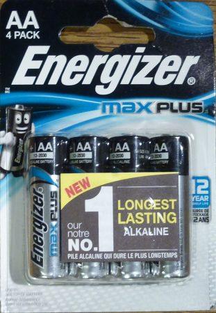Energizer Max Plus alkáli ceruza elem 1,5V AA 4 db - LR6
