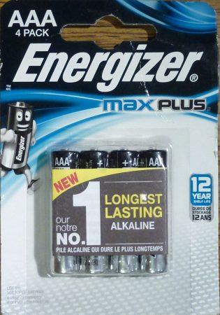 Energizer Max Plus alkáli vékony ceruza elem 1,5V AAA 4 db LR03
