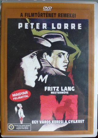 Fritz Lang - M - Egy város keresi a gyilkost - DVD lemez - 1931