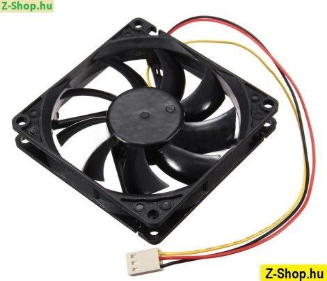 12V 3 Pin PC hűtő ventilátor 80x80x15mm - lapos