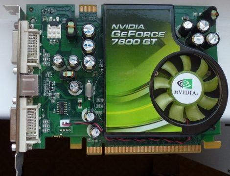 nVIDIA GeForce 7600 GT 256MB DDR3 128bit PCI-e VGA kártya 2 db. DVI és 1 db. S-Video csatlakozóval Manli