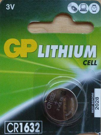 GP CR1632 3V Lítium gombelem - GP 3V Lithium Cell CR1632-7C5