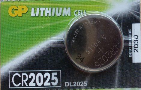 GP CR2025 DL2025 3V Lítium gombelem - GP 3V Lithium Cell