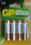 GP Ultra alkáli ceruza elem 1,5V AA 4 db ALKALINE LR6