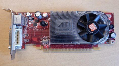 ATI Radeon HD 2400 XT [DELL] 256M DDR2 PCI-e VGA kártya DMS-59 és S-Video csatlakozóval - Low Profile - alacsony