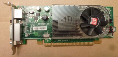 ATI Radeon HD 3450 (DELL) 256MB DDR2 PCI-e VGA kártya DMS-59 és S-Video csatlakozóval - Low Profile - alacsony