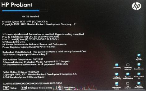 HPE ProLiant DL360p Gen8 Server 1U Rack szerver - 646904-421- használt